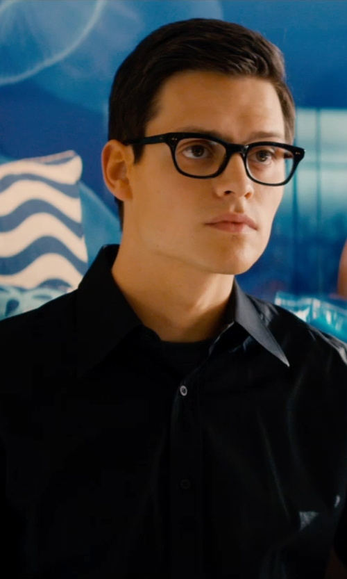Unknown Actor with Tom Ford Eyewear 5209 Rectangular Optical Frames in Mortdecai
