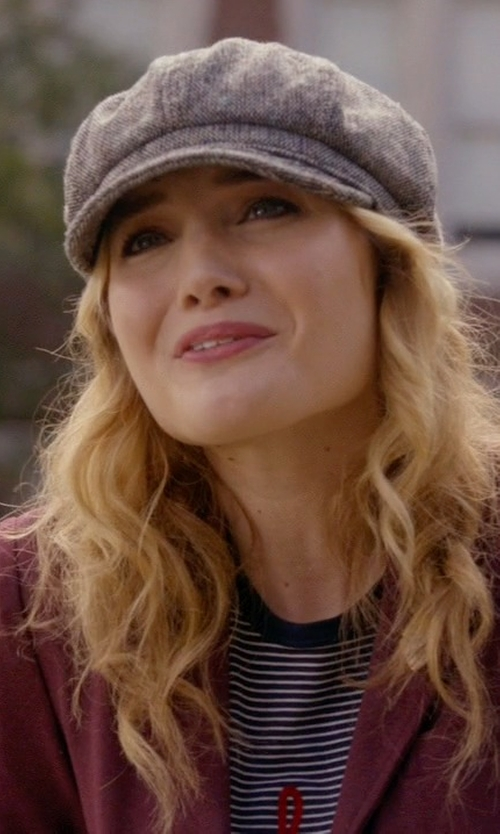 Skyler Samuels with New York Hat Co. Tweed Spitfire Hat in Scream Queens