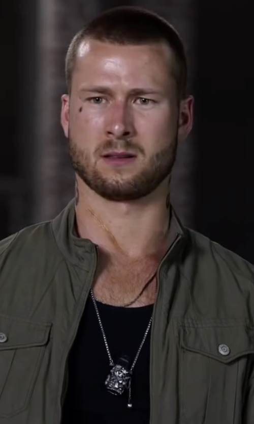 Glen Powell with Maison Margiela Contrast Hem T-Shirt in Ride Along 2