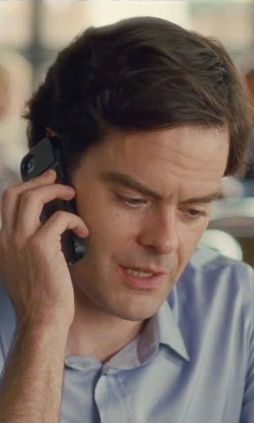 Bill Hader with Apple iPhone 5 in Trainwreck