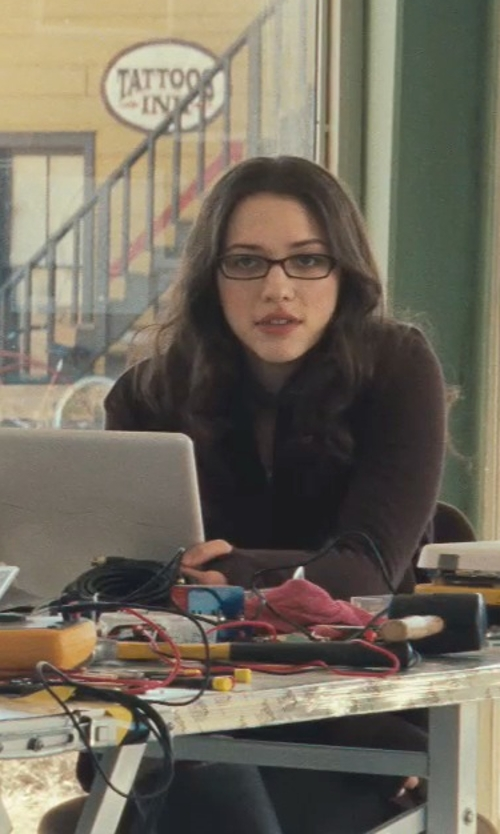 Kat Dennings with Plush Cotton Fleece Lined Leggings in Thor