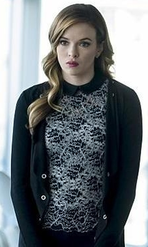 Danielle Panabaker with Zara Lace Top in The Flash