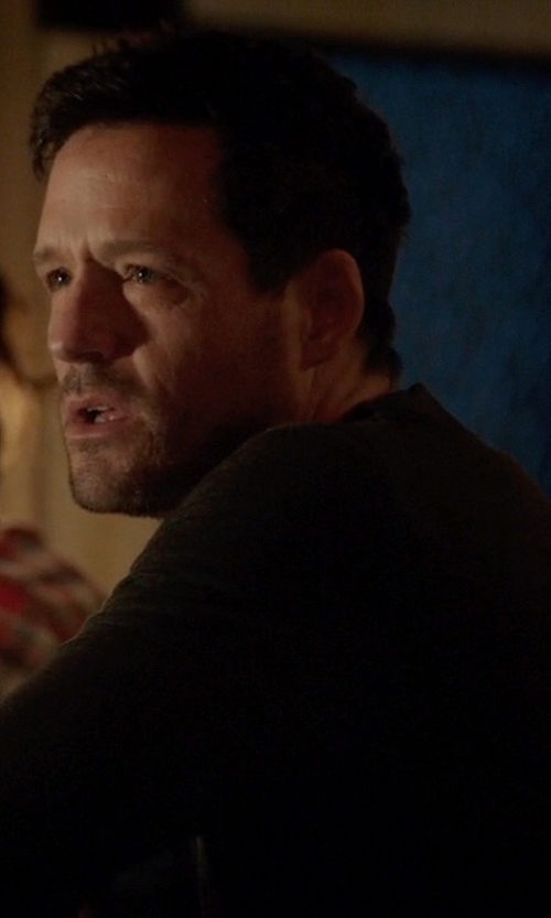 Josh Hopkins with Hugo Boss V-Neck Sweater in Quantico