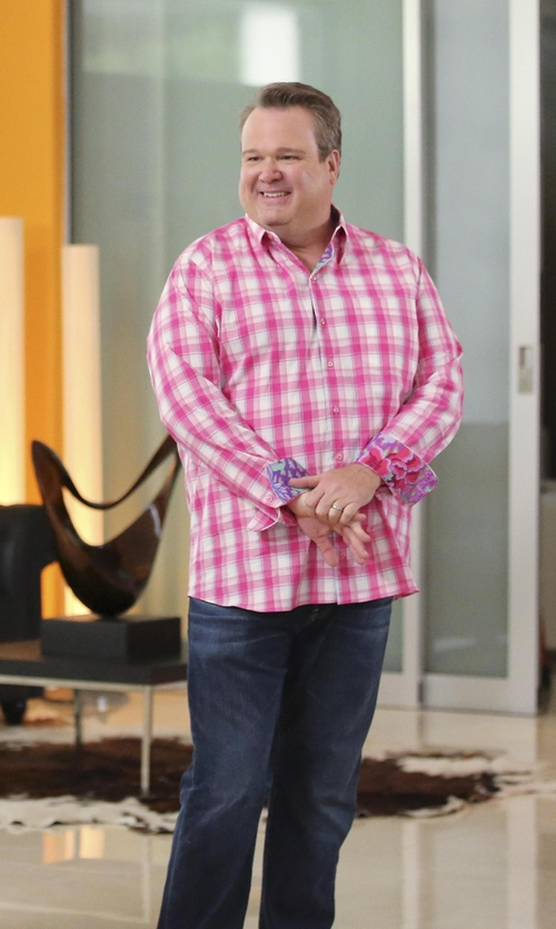 Eric Stonestreet with 7 For All Mankind 'Slimmy' Slim Fit Jeans in Modern Family