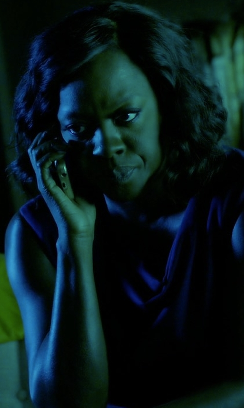 Viola Davis with Burberry Brit Janey Sleeveless Ruched Sheath Dress in How To Get Away With Murder