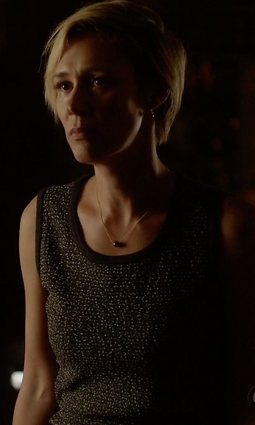 Liza Weil with Vince Camuto Leopard Print Tank Top in How To Get Away With Murder