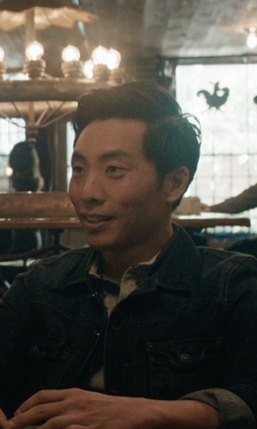 Kelvin Yu with John Varvatos Denim Zip Detail Jacket in Master of None