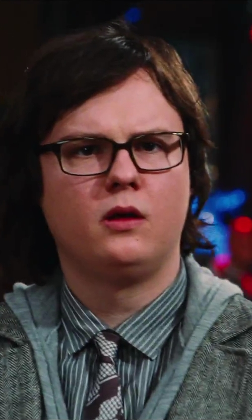 Clark Duke with Harris Wharf Donegal 2 Button Jacket in Hot Tub Time Machine 2