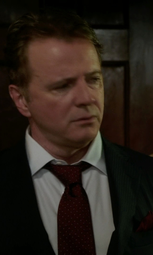 Aidan Quinn with Hugo Boss Pocket Square in Elementary