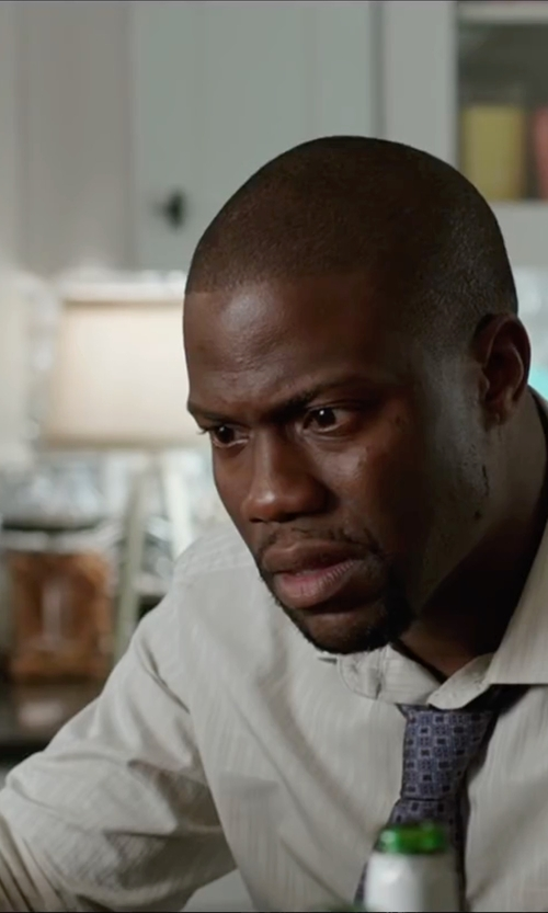 Kevin Hart with Anto Beverly Hills Custom Made Tonal Stripe Dress Shirt in Central Intelligence
