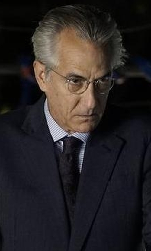 David Strathairn with Todd Snyder Solid Silk Tie in The Blacklist