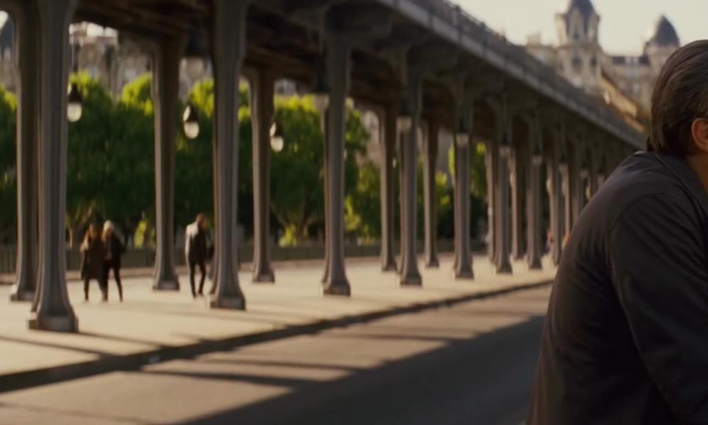 Leonardo DiCaprio with Pont de Bir-Hakeim Paris, France in Inception