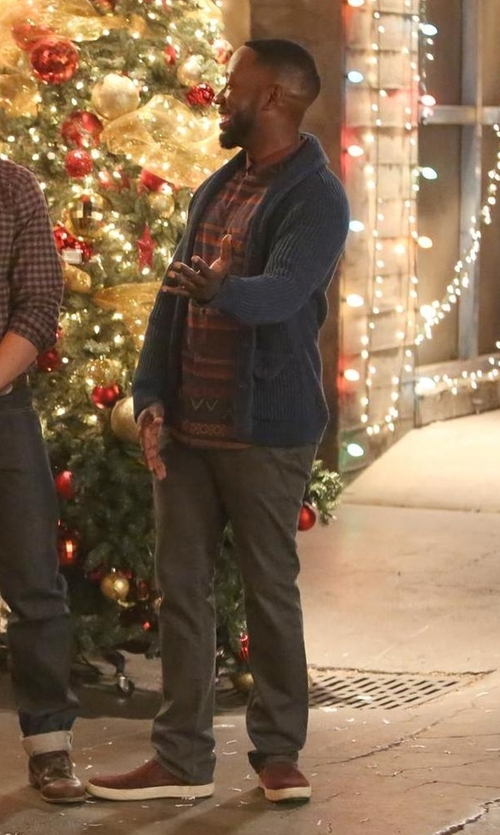 Lamorne Morris with Vince Ace Men's Perforated Suede Skate Sneakers in New Girl