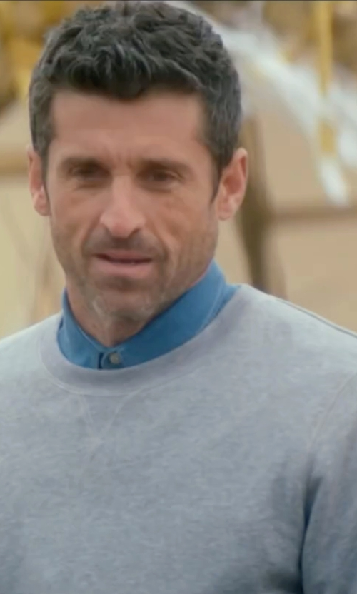 Patrick Dempsey with Topman Textured Crew Neck Sweater in Bridget Jones's Baby
