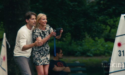 Cameron Diaz with Conservatory Water in Central Park New York City, New York in The Other Woman
