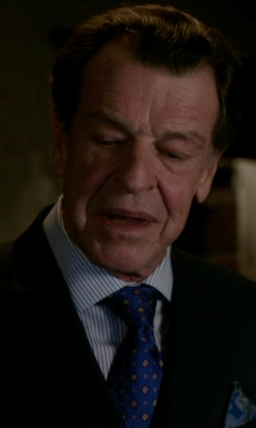 John Noble with Charvet Striped Dress Shirt in Elementary