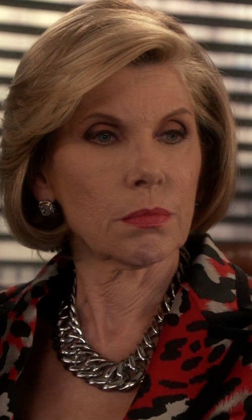 Christine Baranski with Pono Alchemy Ana ABS Choker Necklace in The Good Wife