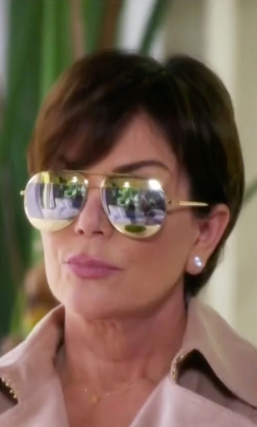 Kris Jenner with Dior Split Two-Tone Metallic Aviator Sunglasses in Keeping Up With The Kardashians