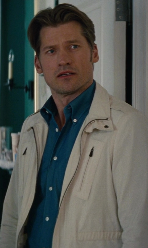 Nikolaj Coster-Waldau with Armani Collezioni	 Stretch-Cotton Dress Shirt in The Other Woman