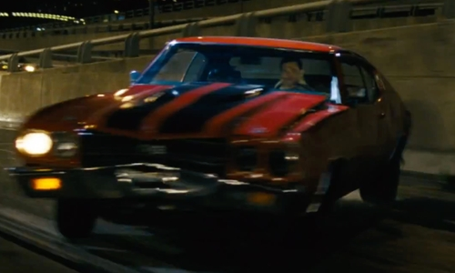 Tom Cruise with Chevrolet 1970 Chevelle Coupe in Jack Reacher