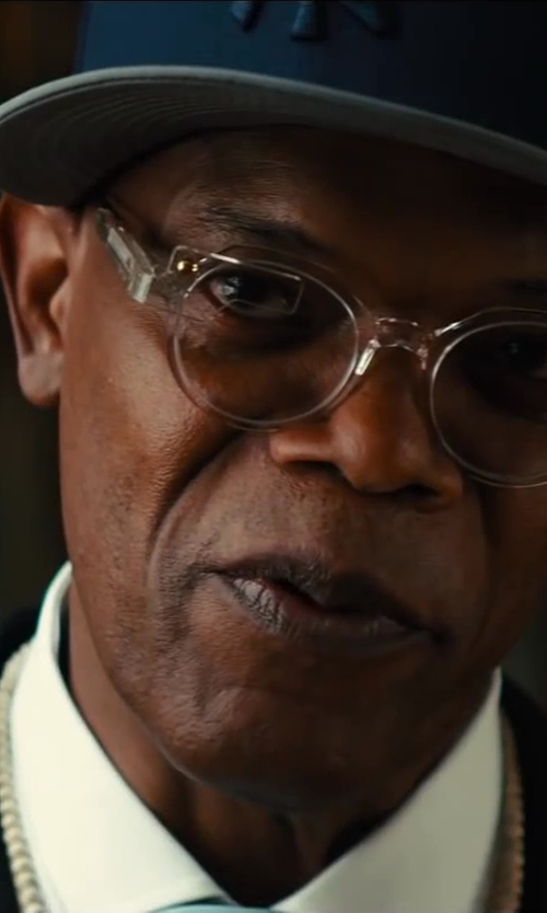 Samuel L. Jackson with Cutler and Gross 0857 Nude Pink Eyeglasses in Kingsman: The Secret Service