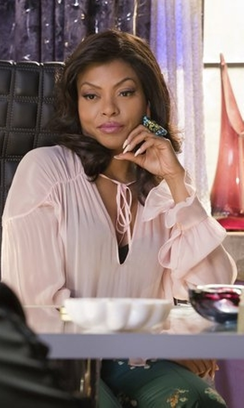 Taraji P. Henson with Tom Ford Silk Top in Empire