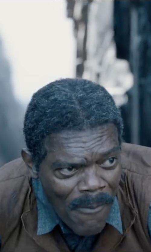 Samuel L. Jackson with Scully Lambskin Button Front Vest in The Legend of Tarzan