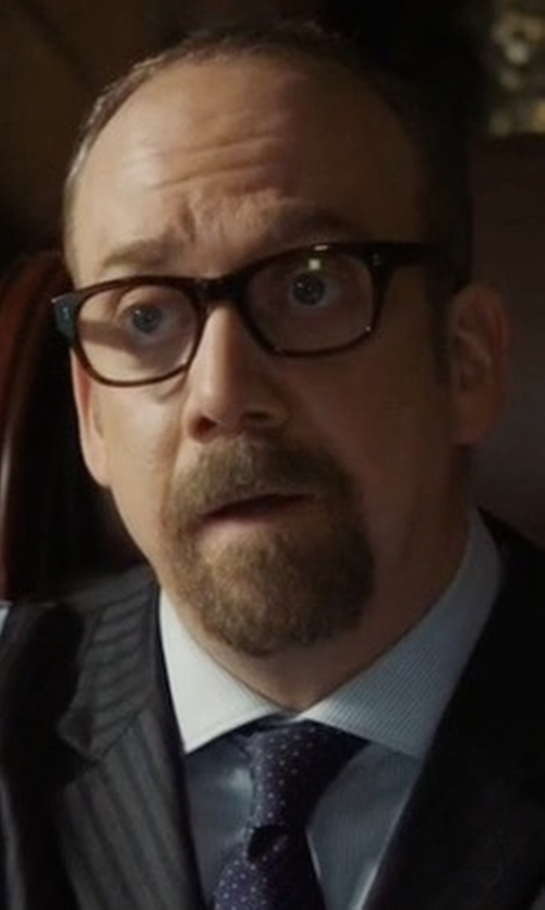 Paul Giamatti with Tom Ford Transparent Havana Eyeglasses in Billions