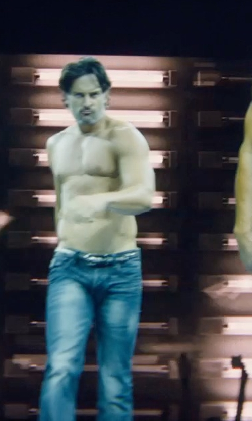 Joe Manganiello with Hudson Jeans 'Byron' Straight Leg Jeans in Magic Mike XXL