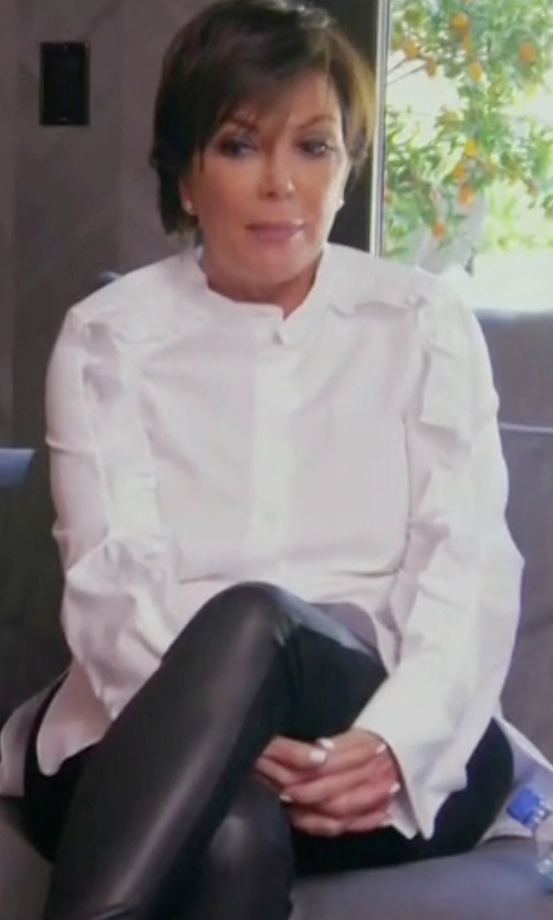 Kris Jenner with Needle & Thread Chalk Lace Collar Shirt in Keeping Up With The Kardashians