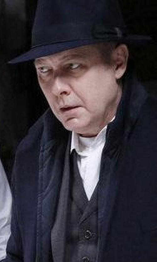James Spader with Borsalino Tasso Fedora Hat in The Blacklist
