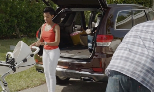 Jazmyn Simon with Audi SQ5 SUV in Ballers