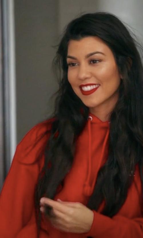 Kourtney Kardashian with Champion + UO Reverse Weave Hoodie Sweatshirt in Keeping Up With The Kardashians