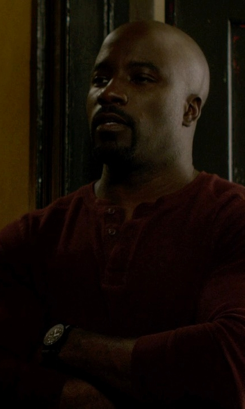 Mike Colter with Marc by Marc Jacobs Stainless Steel Watch in Jessica Jones