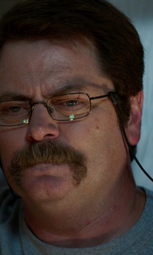 Nick Offerman with Foster Grant Men's Oval Reading Glasses in We're the Millers