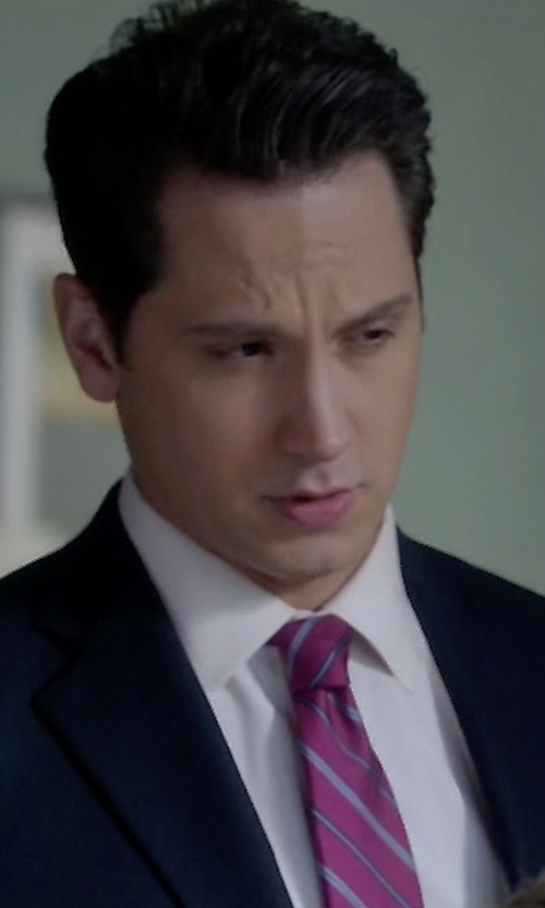 Matt McGorry with Hugo Boss Jacob Slim-Fit Cotton Shirt in How To Get Away With Murder