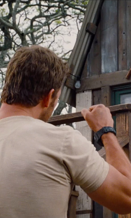 Chris Pratt with Casio G-Shock GD-100-1B Watch in Jurassic World