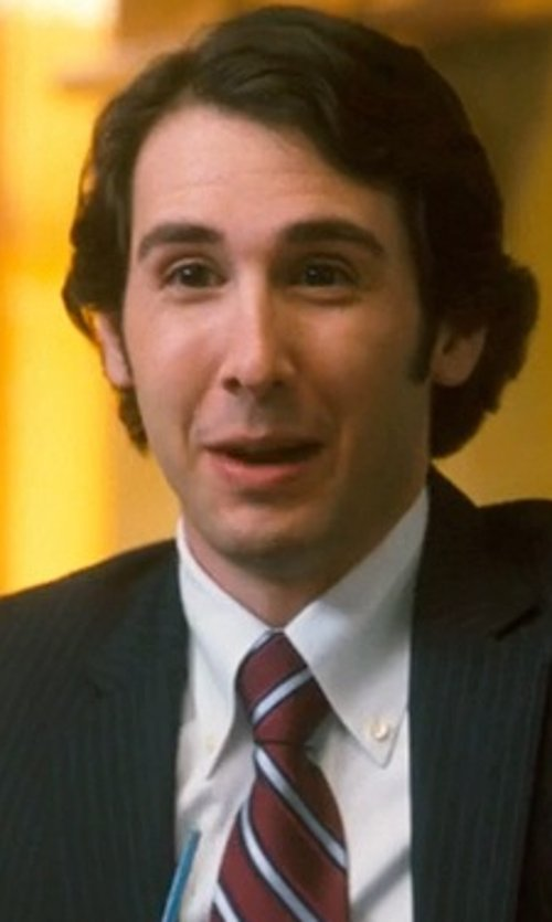Josh Groban with Wembley Men's Textured Stripe Tie in Crazy, Stupid, Love.