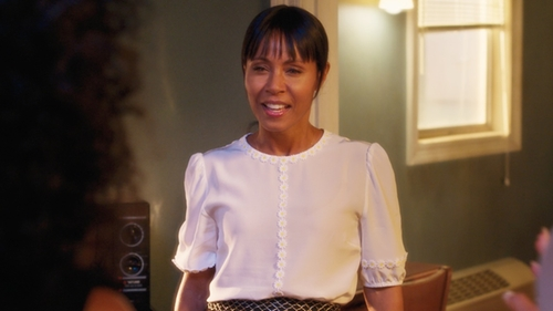 Jada Pinkett Smith with Dolce & Gabbana Floral Detail Blouse in Girls Trip