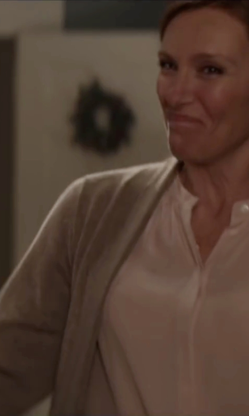 Toni Collette with Jucca Button Cardigan in Krampus