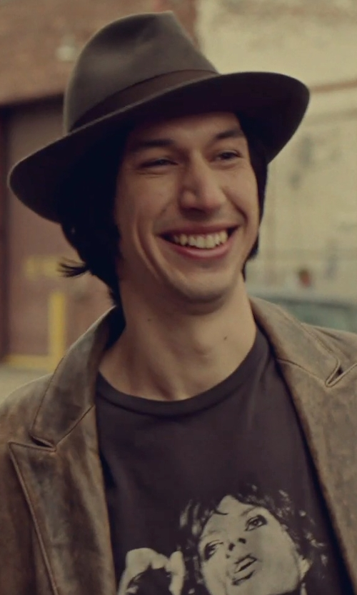 Adam Driver with H&M Rolling Stones MIick Jagger T-Shirt in While We're Young