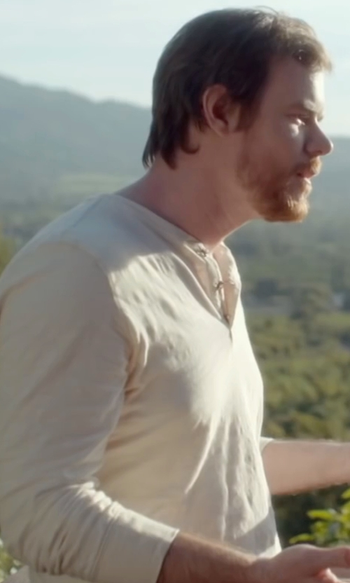 Joe Swanberg with 2xist Waffle-Knit Henley Shirt in Joshy