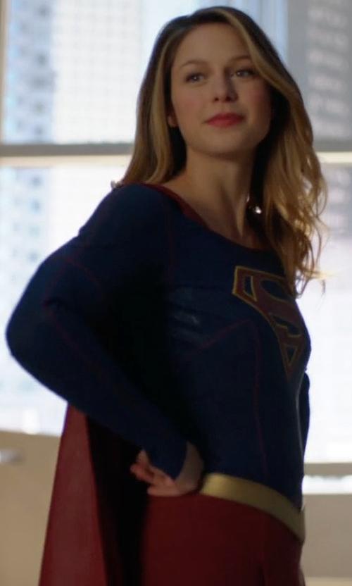 Melissa Benoist with Colleen Atwood (Costume Designer) Custom Made Supergirl Costume in Supergirl