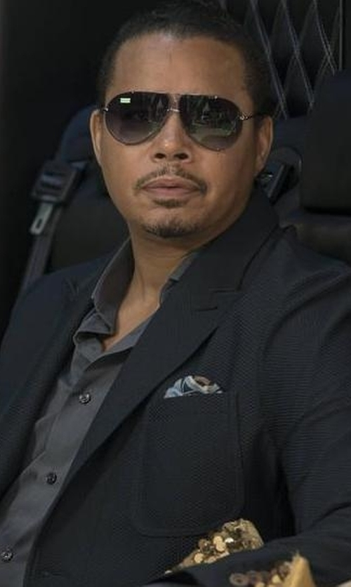 Terrence Howard  with Sand Wool-Blend Knit Sport Jacket in Empire