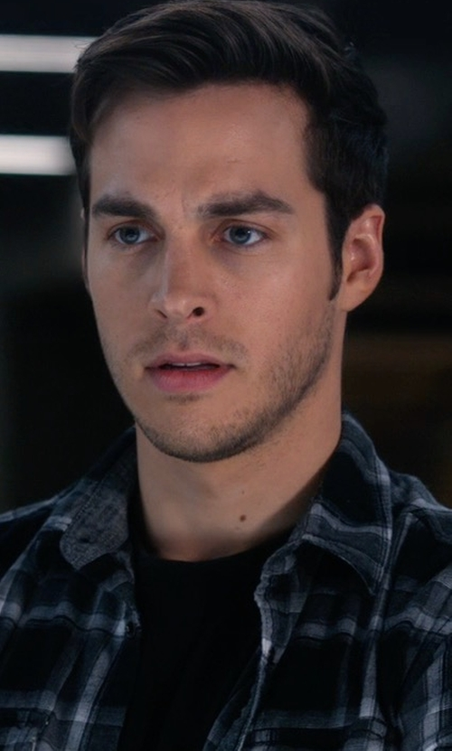 Chris Wood with Ovadia & Sons Plaid Woven Sport Shirt in Supergirl