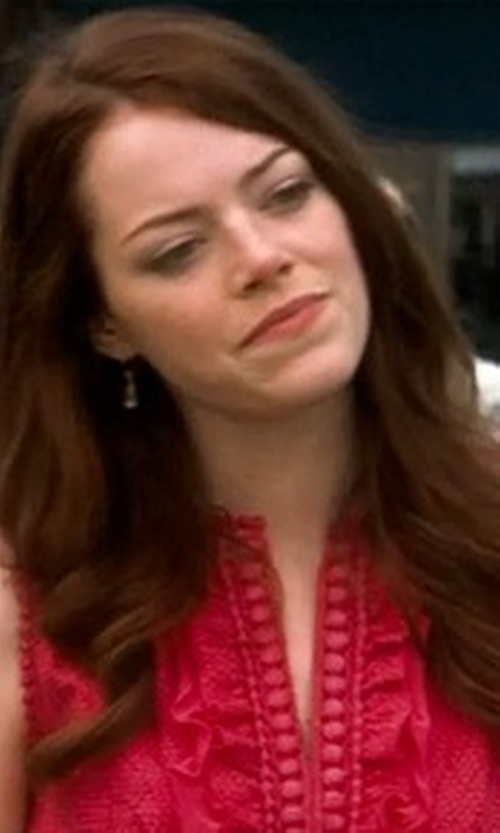 Emma Stone with Jill Jill Stuart Dress Sleeveless Lace Sheath Dress in Crazy, Stupid, Love.