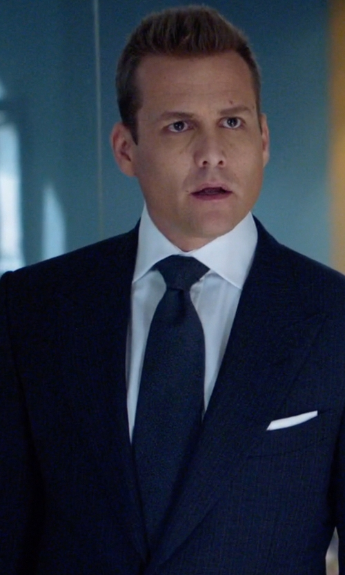 Gabriel Macht with Barneys New York Solid Satin Neck Tie in Suits