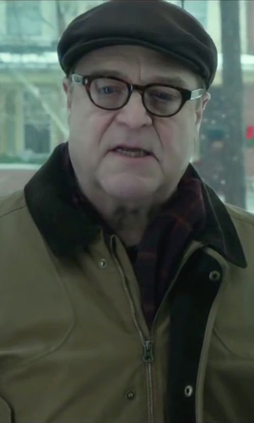 John Goodman with Black Brown Cashmere Plaid Scarf in Love the Coopers