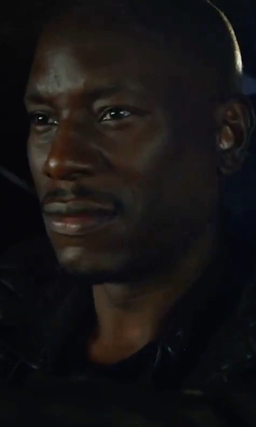 Tyrese Gibson with Topman Quilted Leather Biker Jacket in The Fate of the Furious