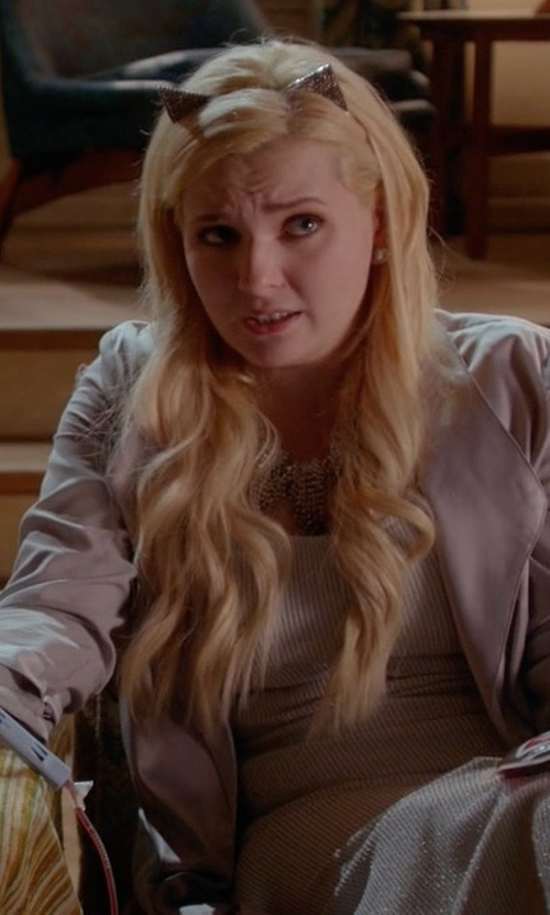 Abigail Breslin with T By Alexander Wang Cami Tank Dress in Scream Queens